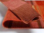 Nepal zuiver scheerwol vloerkleed Silky Plus 474 Kastanje