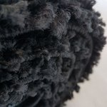 Zwart hoogpolig vloerkleed Atlanta Shaggy 380