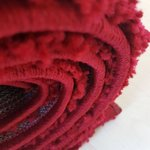 Rood hoogpolig vloerkleed Atlanta Shaggy 380