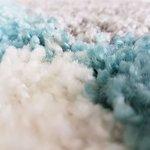 Hoogpolig vloerkleed Atlanta Shaggy Turquoise 381