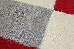 Modern rood vloerkleed Adriana Shaggy  1501/AY Rood