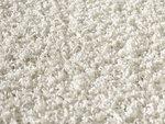 Ecru hoogpolig vloerkleed of karpet Seram 1300