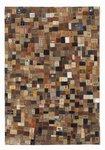 Leren vloerkleed Labelplus 598 Multicolor