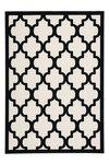 Modern vloerkleed Dolf Ivoor Zwart