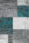 Modern vloerkleed Galant 8001 kleur Turquoise