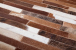 Leren vloerkleed Patch 851 kleur Beige