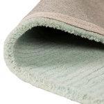 Zuiver wol vloerkleed Tosca kleur mint