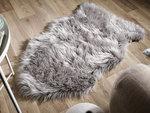 Vacht vloerkleed Vallis kleur grijs