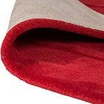 Effen vloerkleed zuiver wol Sera kleur rood