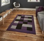 Vloerkleed Madras kleur grijs purple MT04