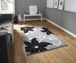 Vloerkleed Victoria kleur grijs zwart OC15