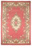 Klassiek wollen vloerkleed Prime kleur pink