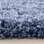 Hoogpolig vloerkleed Angy turquoise 160