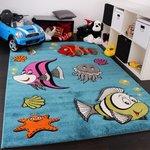Kinderkamer vloerkleed Kelly 745 Turquoise 30
