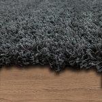 Hoogpolig vloerkleed Dorin 959 kleur Grijs