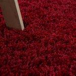 Hoogpolig vloerkleed Dorin 958 kleur Rood