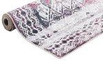 Vloerkleed Kelim kleur ivory / cherry