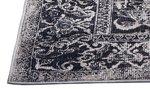 Vloerkleed Odessa kleur grijs / zwart