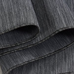 Sisal look vloerkleed voor binnen en buiten Costal 2000 Zwart