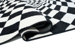 Modern vloerkleed Note Z038A Zwart Wit