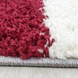 Modern rood vloerkleed Adriana Shaggy  1501/AY Rood_