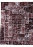 Vloerkleed Patch Plus kleur bruin_