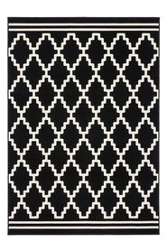 Vintage vloerkleed Ariadne zwart wit