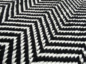 Goedkope vloerkleden Taunus zwart wit