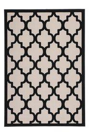 Modern vloerkleed Dolf Taupe Zwart