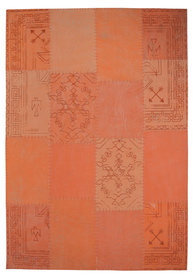 Patchwork vloerkleed Lira Multicolor oranje