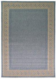 Sisal look vloerkleed Floriade Lorenzo kleur blauw