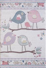 Kinder vloerkleden en tapijten Bisa Kids 4606 Creme