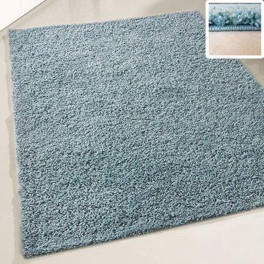 Hoogpolig vloerkleed Atlanta Shaggy Turquoise 380