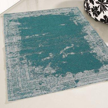 Wasbaar vloerkleed Bahama blauw 6911