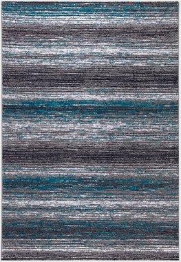 Turquoise vloerkleed Lines 301