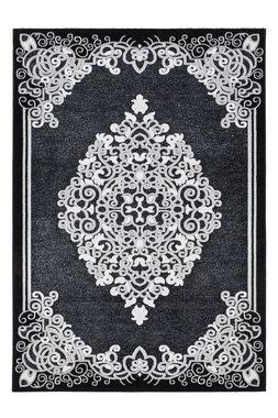 Klassiek vloerkleed Jemal Zwart