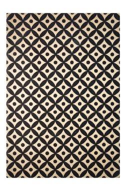 Katoen vloerkleed Sandos 200 kleur Zwart Naturel