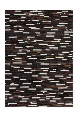 Leren vloerkleed Patch 851 kleur Bruin