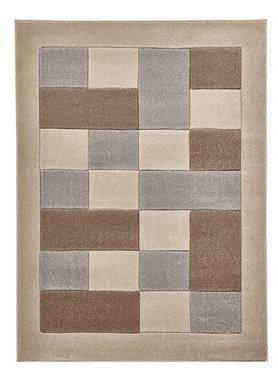 Vloerkleed Madras kleur beige grijs MT04