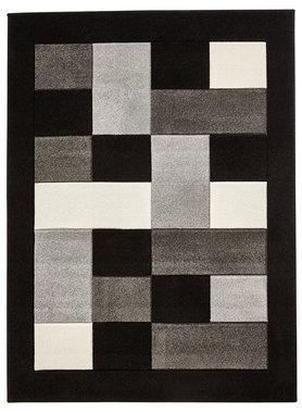 Vloerkleed Madras kleur grijs zwart MT04