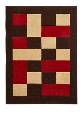 Vloerkleed Madras kleur bruin rood MT04