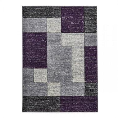 Vloerkleed Madras kleur grijs lila A0221