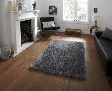 Hoogpolig vloerkleed Montblanc kleur zilver