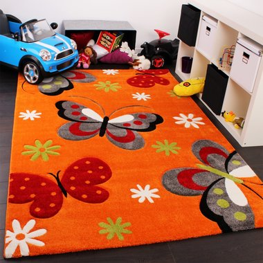 Kinderkamer vloerkleed Kelly 772 Oranje 121