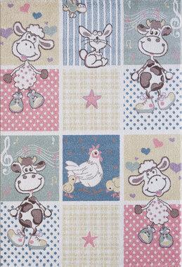 Kinder vloerkleden en tapijten Bisa Kids 4605 Creme