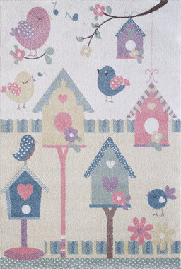 Kinder vloerkleden en tapijten Bisa Kids 4601 Creme