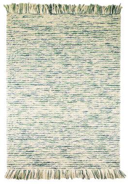 Wol vloerkleed Retro Teal / Turquoise